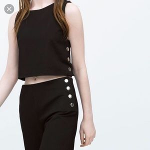 Zara crop top with side snaps